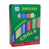 Blackboard Eraser, 1 Pack White Chalk, 1 Pack Coloured Chalks