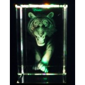 3D Tiger Crystal Laser Block 50mm x 50mm x 80mm