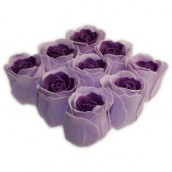 Bath Roses - 9 Roses in Gift Box - (Lavender)