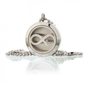 Aromatherapy Diffuser Necklace - Infinity Love 25cm