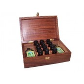 Carved Wooden Aromatherapy Box - 215 x 140 x 74mm