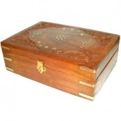 Carved Wooden Aromatherapy Box - 225 x 155mm