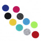 10 x Aromatherapy Necklace Reusable Refill Pads - 25mm