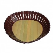 Bamboo Basket - Large Heart