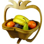 Pineapple Bamboo Fruit Basket - H 26cm x L 24cm