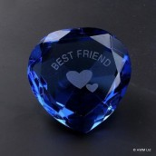 """Best Friend"" Blue Crystal Heart"