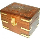 Carved Wooden Aromatherapy Box - 108 x 80 mm