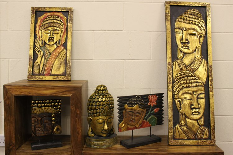 Carved Golden Buddhas