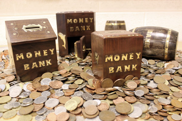 Wood and Brass Money Boxes