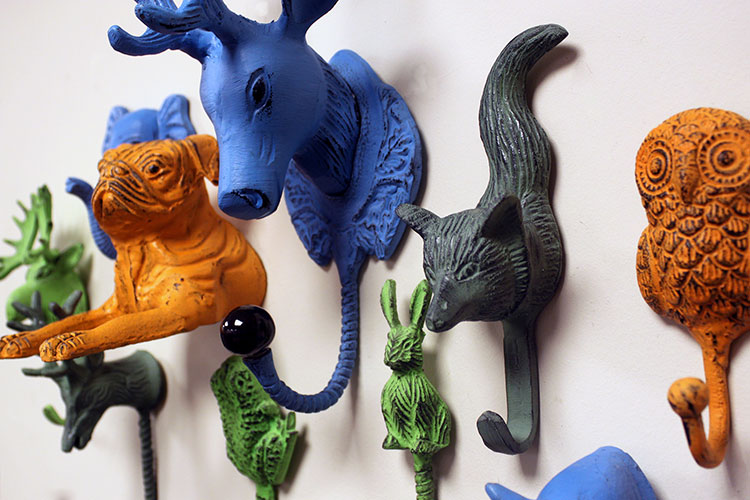 Vintage Animal Metal Hooks