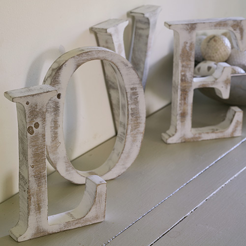 Shabby Chic Wooden Letters