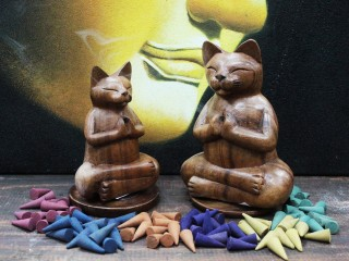 Carved Wooden Incense Burners
