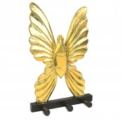 Wooden Coat Hanger - Butterfly Gold