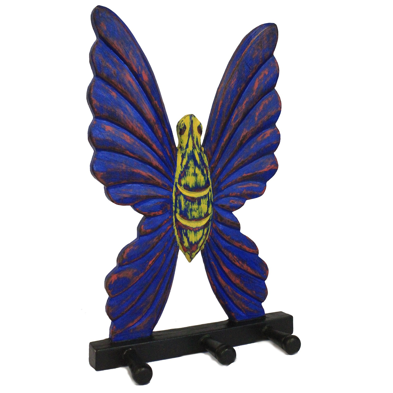 Wooden Coat Hanger - Butterfly Multicolour