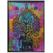 Cotton Wall Hanging - Elephant Tree