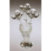Crystal Flower in Vase - Clear