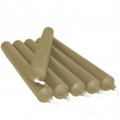 6 Dinner Candles - Warm Taupe