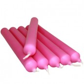 6 Dinner Candles - Fuschia