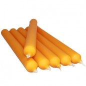 5 Dinner Candles - Bright Orange