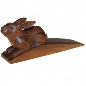Handcarved Wooden Door Stop - Rabbit