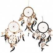 3 x Large Dreamcatchers - Cream/Coffee/Chocolate