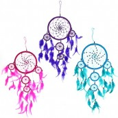 3 x Large Dreamcatchers - Turquoise/Pink/Purple
