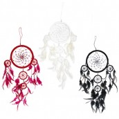 3 x Large Dreamcatchers - Black/White/Red