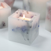 Enchanted Candle - Small Square - Lavender