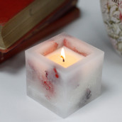 Enchanted Candle - Small Square - Rose