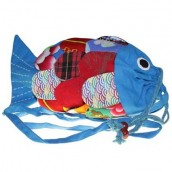 Recycled Handmade Fish Bag - Blue