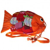 Recycled Handmade Fish Bag - Orange