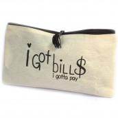 Get Organised Pouch - I've Got Bills to Pay