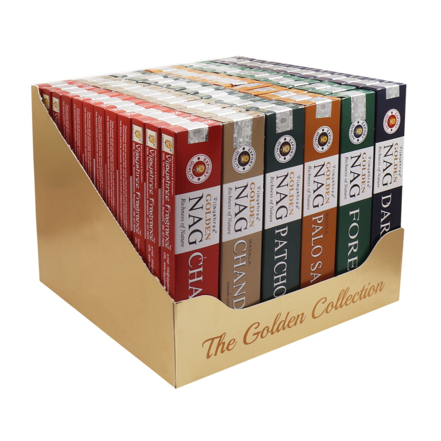 72 x 15g Golden Collection Box - 6 Assorted Fragrances