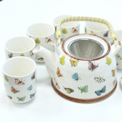 Herbal Tea Pot Set - Butterflies