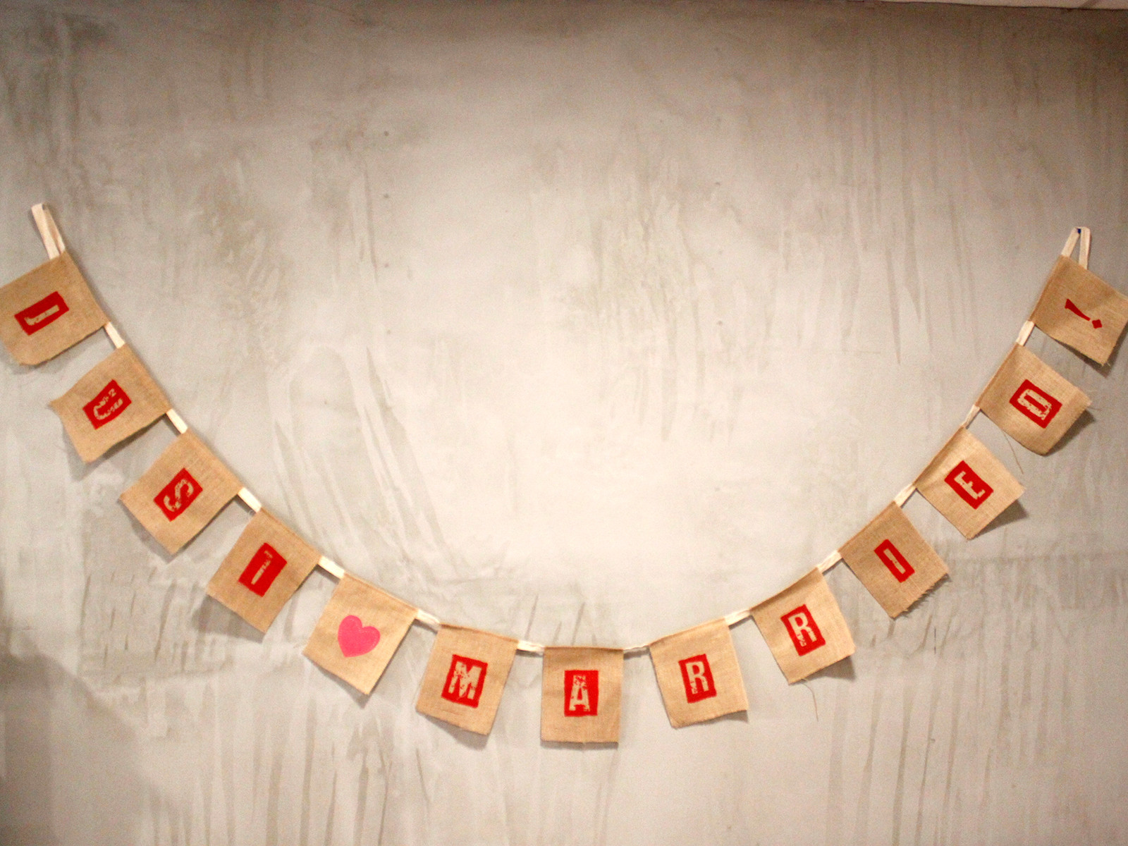 Natural Bunting - Just Married x 2