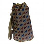 Jute Duffle Bag - Scotty Dog