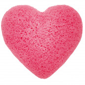 Japanese Konjac Sponge - Heart - Rose
