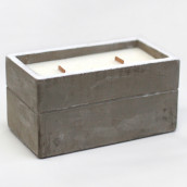 Concrete Wooden Candle - Large Box - Clove and Dark Sandal