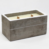 Concrete Wooden Candle - Large Box - Spiced South Sea Lime