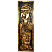 Carved Golden Buddhas - Large Portrait