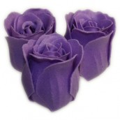 Bath Roses - 3 Roses in Heart Shaped Box - (Lavender)