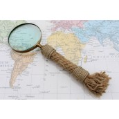 Vintage Magnifying Glass - Rope Handle