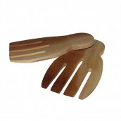 Mahogany Salad Servers - Hand Shaped