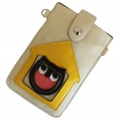 Owl Pouch - White & Yellow