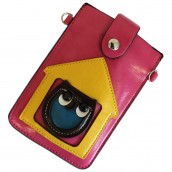 Owl Pouch - Red & Yellow