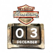 Day to Remember Calender - Wedding Anniversary - Carved Sign