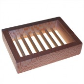 Plantane Wood Soap Dish - Box