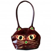 Pussy Cat Bag - Burgundy