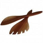 Mahogany Salad Servers - Racquet Shaped