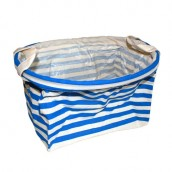 Reinforced Cotton Basket - Blue - Oval